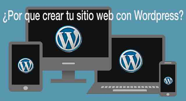por que crear sitio web con wordpress