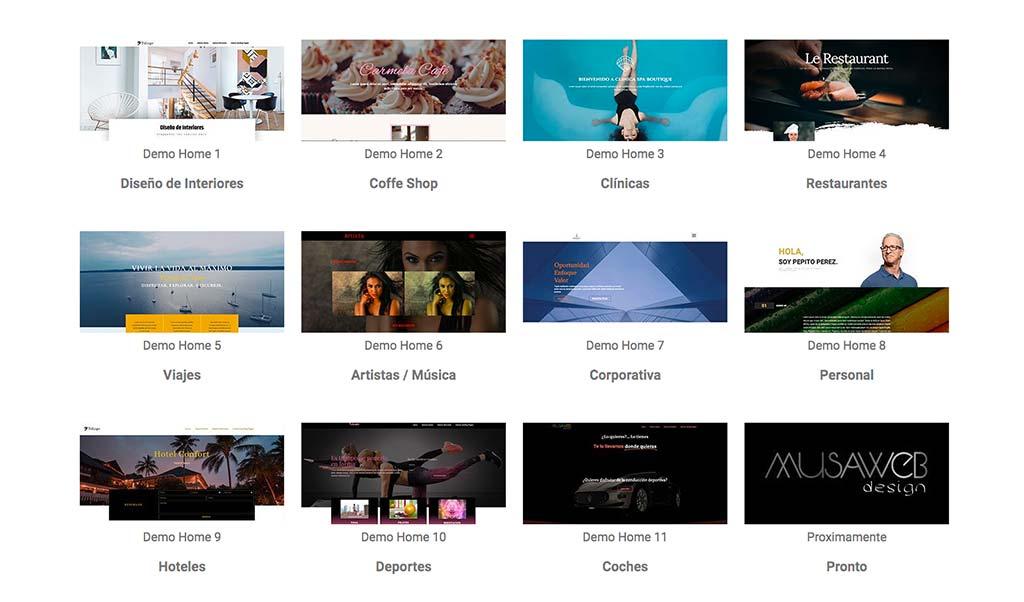 ejemplos de diseños de paginas web en madrid
