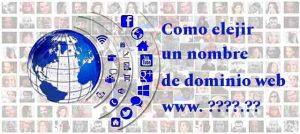 como elegir nombre de dominio web