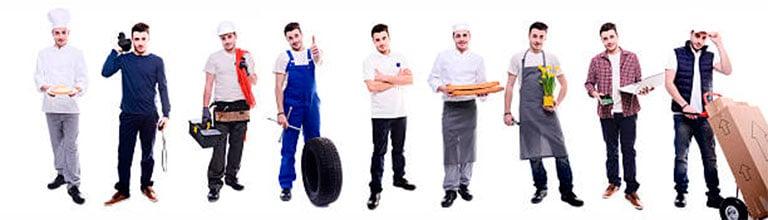 trabajadores negocio local