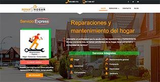 trabajo realizado web reparhogar express